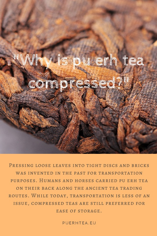 what is pu erh tea why is pu erh tea compressed
