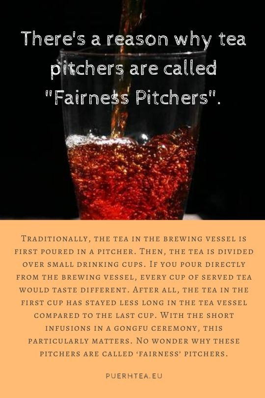 why tea pitchers are called fairness pitchers pu erh tea